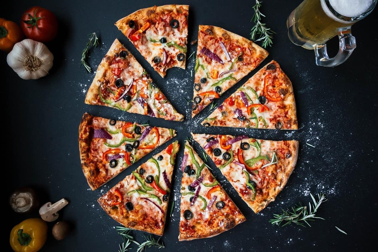 Pizza teilen